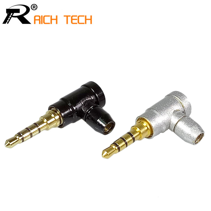 3Pcs Jack 3.5mm 4 Pole Stereo Audio Right Angle Barss Plug Jack Cable Solder Adapter Connector areyourshop sale 2pcs gold plated stereo 3 5mm 3 pole repair headphone jack plug cable audio adapter