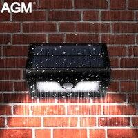 AGM LED Năng Lượng Mặt Trời Ánh Sáng Sân Vườn Năng Lượng Đèn Tường Đèn Điện Luminaria Ánh Sáng Mặt Trời PIR Motion Sensor Chiếu Sáng Cho Đường Phố Ngoài Trời Cầu Thang Đường Dẫn