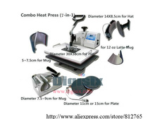 DHL free shipping 7 in 1 Combo Heat Press Machine