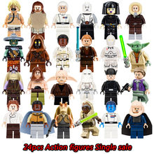 Star Wars Building Blocks Figures Darth Vader Barriss Offee Shaak Ti Jedi Super Heroes Model Action Bricks Diy Toys For Children(China)