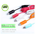 1000pcs/lot Golf LED Light Data Sync Micro USB Charging Cable for Sumsang HTC Sony Nokia LG Shipping by DHL