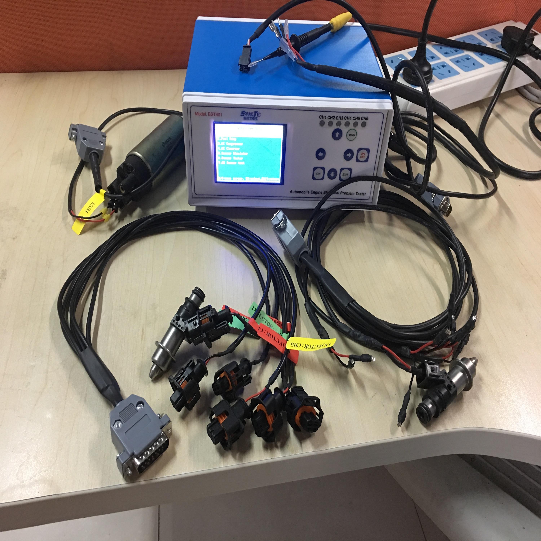 BST601 12V тестер напряжения, автомобильного двигателя, электрических проблем (тестовые датчики, провода, ECU, топливный инжектор, насос, компоне