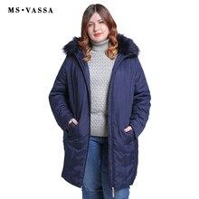 MS VASSA 2018 New Big Size Women Parkas 11XL Winter Padded Women Jacket Worm Hood With Fur Plus Size Casual Coats Outwear
