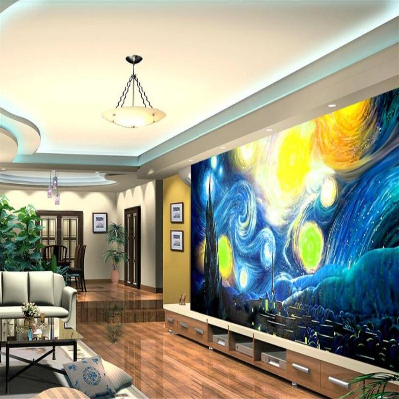 Beibehang Large Wallpaper Mural Custom Any Size Three: Beibehang Custom HD Wallpapers European Super Art Van Gogh