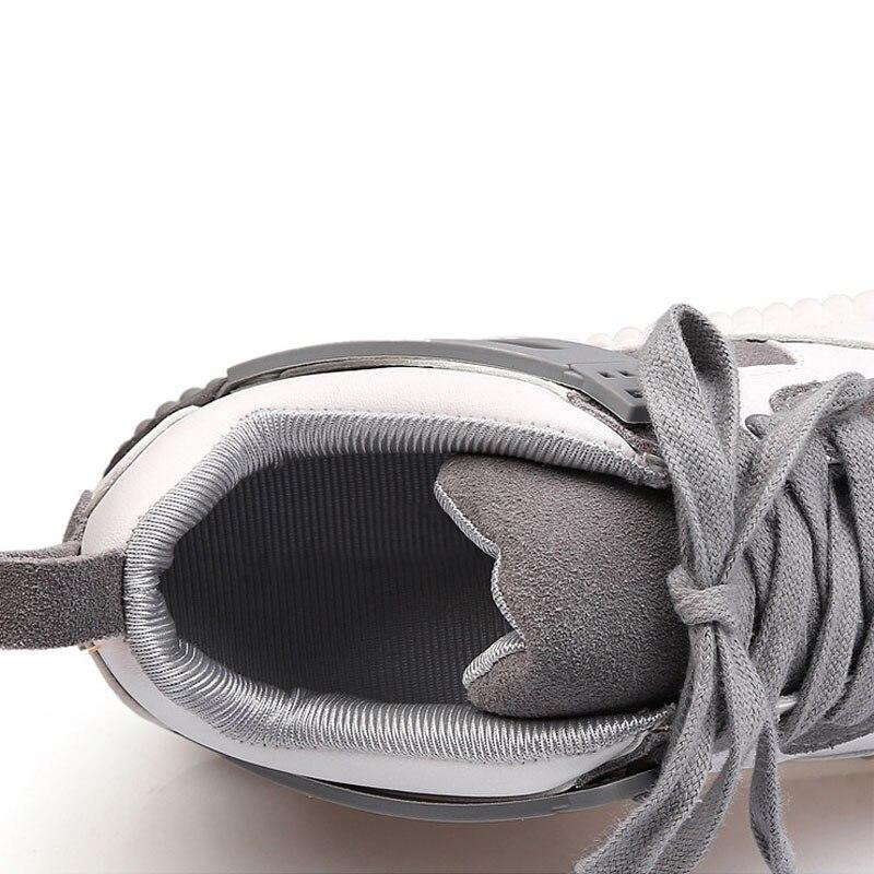Respirant Mode Feiyitu Haute 2018 Épaisse Chaussures Semelle Marque Plat Noir De Talon rose Lace Up Sneakers Nouveau Qualité gris Femmes K1lTFJc