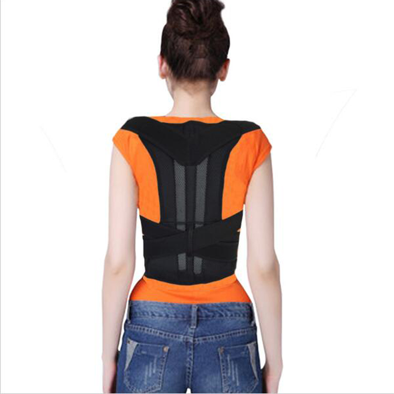 Aofeite Adjustable Orthopedic Back Correct Posture  Straighten Support Brace Round Shuouler Support Belt Lumbar Brace AFT-B003 adjustable back brace posture corrector back support shoulder belt men women aft b003 aofeite