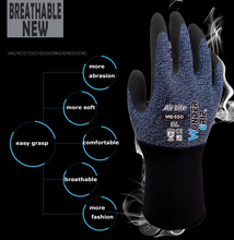 6 Pairs Nylon Wrapped Spandex With Nitrile Foam Coated Garden Work Gloves