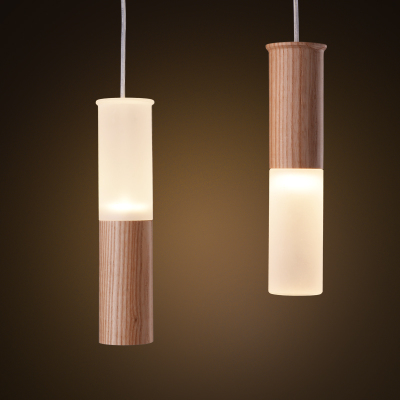 Aliexpress.com : Buy Wooden Lamp Pendant Wood Tree Hanging Tube ...