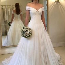 kissbridal Simple Elegant Wedding Dresses 2019 V-neck