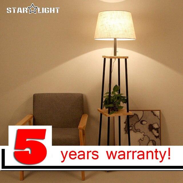 US $163.3 19% OFF|Moderne Stehleuchte Für Wohnzimmer Baumwolle material  Lampenschirm Holzständer Stehlampe Leuchten Kostenloser versand in Moderne  ...