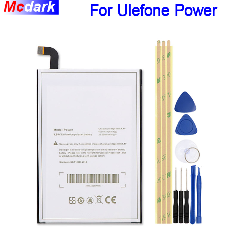 Für Ulefone Power Batterie 6050 mah Hohe Qualität Batterie Bateria Akkumulator AKKU + Werkzeuge