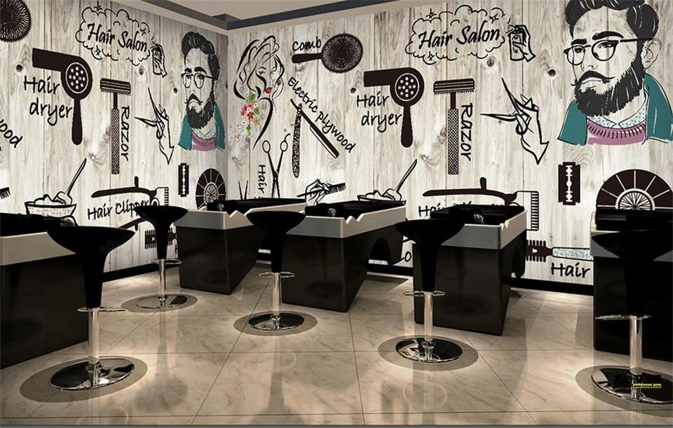 3d Wallpaper Custom Photo Non Woven Room Mural Hair Salon Beauty