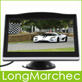 10 ШТ./ЛОТ 5 Дюймов TFT LCD 480x272 HD Цветной Монитор Автомобиля Поддержка 2Ch Видео Вход Для VCD/DVD/GPS/Камера Заднего вида
