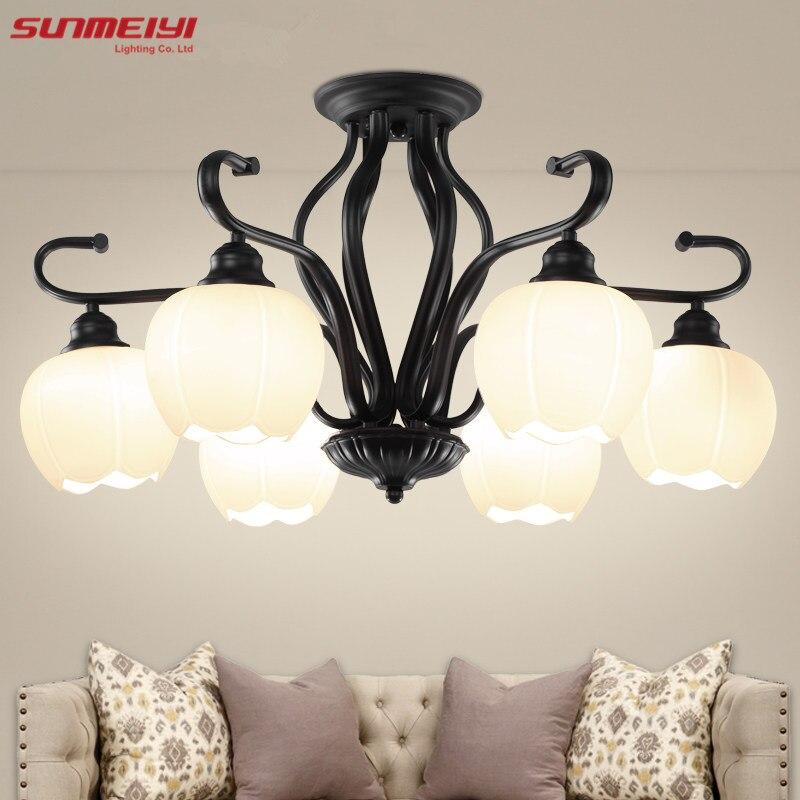 Modern Brief Led Ceiling Light Creative Black Ceiling Lamp Vintage luminaria teto Pendant Ceiling Kids Bedroom