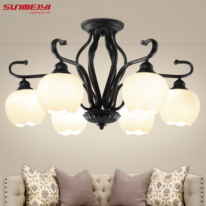 Modern Brief Led Ceiling Light Creative Black Ceiling Lamp Vintage luminaria teto Pendant Ceiling Kids Bedroom Lighting Fixture 2016 new arrival casual draped a line dress clothes with regular crew neck knee length sleeveless for baby girls kids