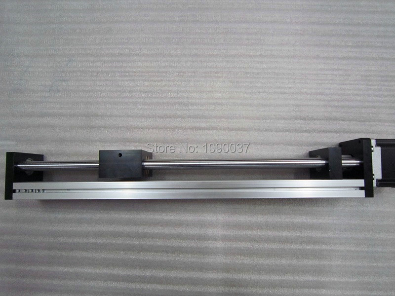 T8 * 2 T-type Screw Linear Slide Stage X Y Z Axis Sliding Table Module Effective Stroke 450mm+ Nema23 Stepper Motor t8 4 t type screw linear slide stage x y z axis sliding table module effective stroke 450mm nema23 stepper motor