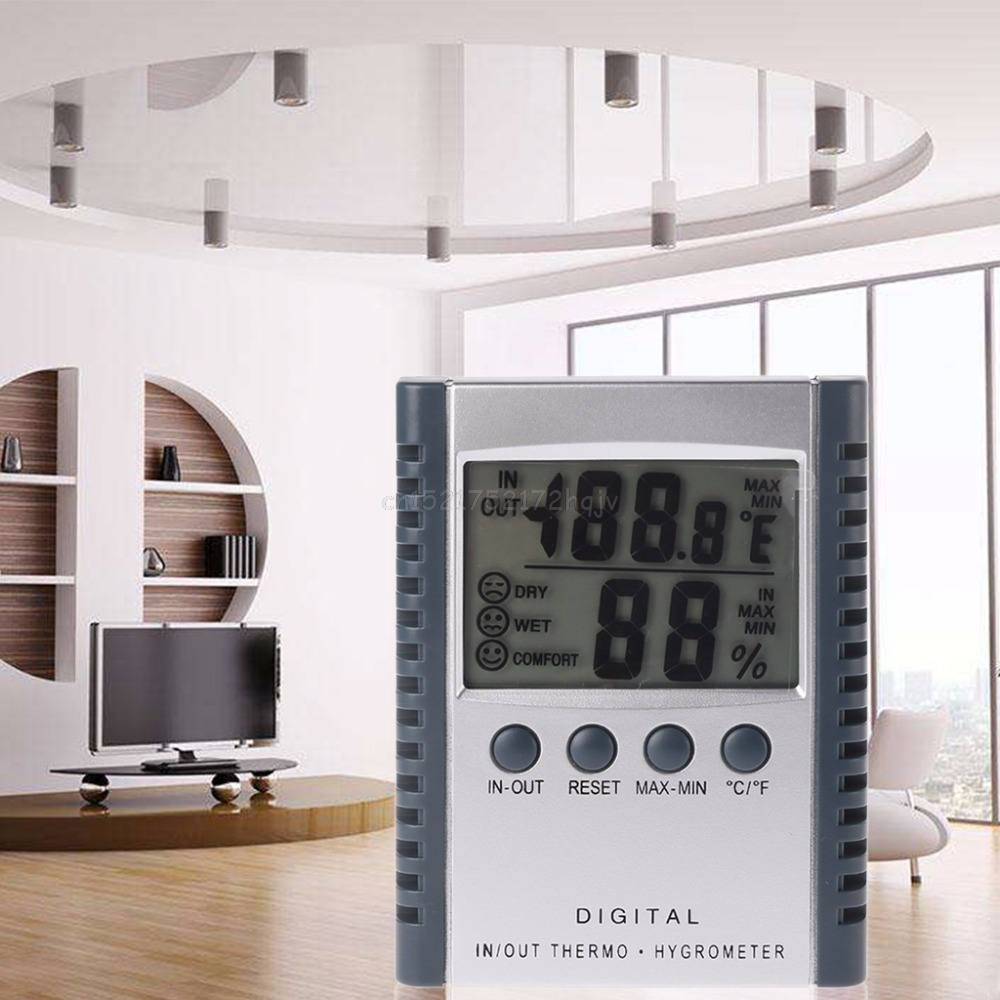 HC520 Digital Indoor/Outdoor Thermometer Hygrometer Temperature Humidity Meter LCD Weather Station With Sensor My30 19 DropshipHC520 Digital Indoor/Outdoor Thermometer Hygrometer Temperature Humidity Meter LCD Weather Station With Sensor My30 19 Dropship
