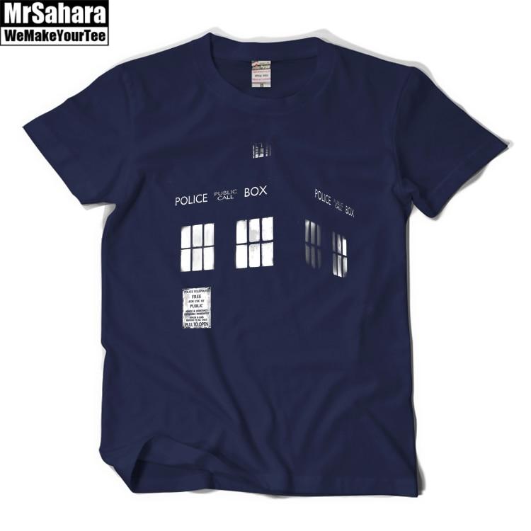 Doctor Who T Shirt Tardis T Shirt Tees Short-sleeve Men Summer Casual T-Shirt Short Sleeve Cotton Print Logo Shirts geo print short sleeve t shirt