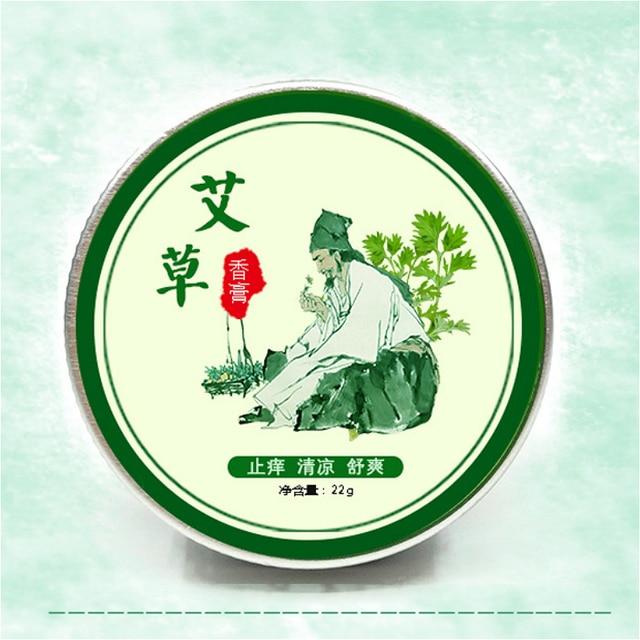 Crema de esencia sólida bacteriológica fresca refrescante Anti-picadura de mosquitos pasta de aceite fresco Extracción de hojas y actividad antibacteriana