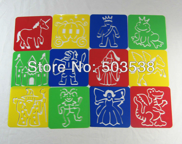 fairy tale stencilpp drawing stencils for kidsearly educational toyspainting templateart stencil125x125cm in drawing toys from toys hobbies on