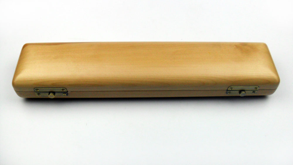 Wooden Flute Case 16 17 Holes Natural Color Musical Instrument Box wooden flute case hard case rosewood color durable 17 hole b foot flute also c foot flute