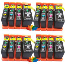 16pk inktcartridge voor compatibel lexmark 100xl 105xl 108xl pinnacle pro901, interpreteren S402 S405, Genesis S815 S816(China)
