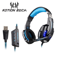 KOTION EACH G9000 PC Gamer Headset Stereo HIFI Gaming Headphones with Microphone Game Music Headset PS4 Gaming Headphone Casque