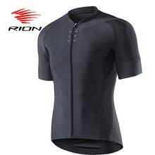 RION велосипедный Мужской Велосипед черные светоотражающие трикотажные изделия с коротким рукавом летние топы для мотокросса горного велосипеда