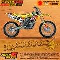 Equipo Gráficos personalizados Fondos Etiquetas Calcomanías Personalizadas Para SUZUKI RMZ250 RMZ450 RMZ Motocross Enduro Supermoto