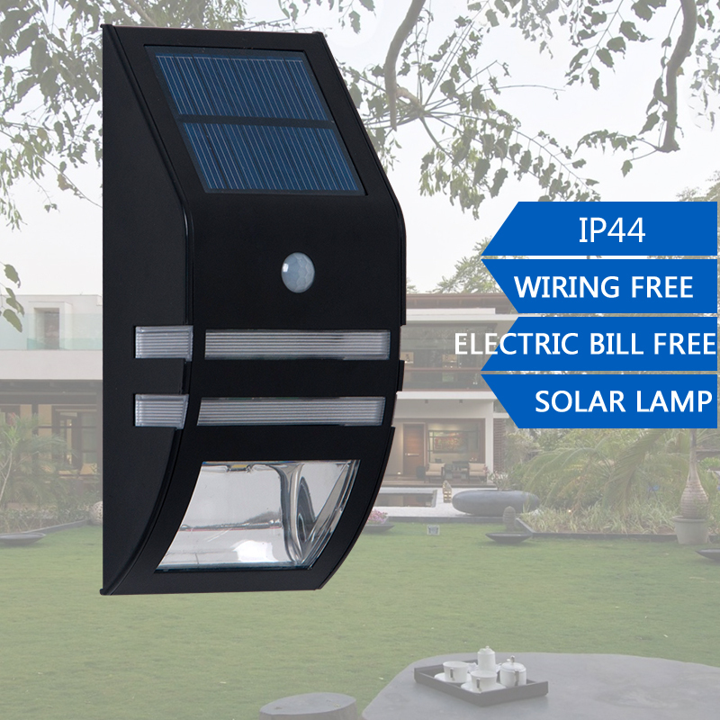 LightInBox PIR Motion Sensor Outdoor LED Solar Garden Light Waterproof Wall Lamps Porch Fence Stair Yard Balcony Lights