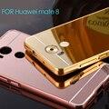 Huawei партнера 8 чехол металла алюминий + зеркала плакировкой задняя крышка аксессуары гибридный люкс полная защита чехол для Huawei партнера 8
