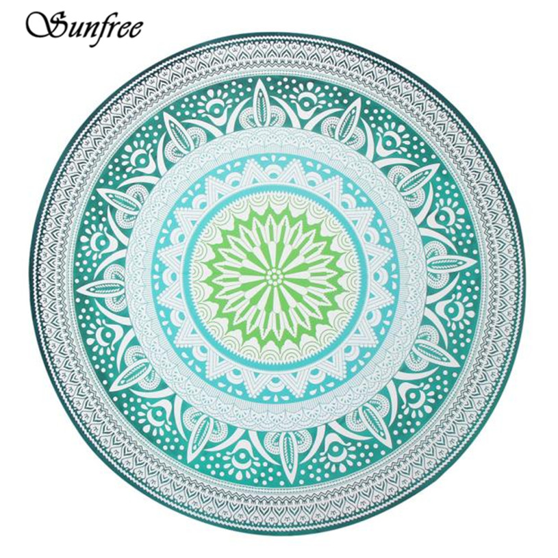 Sunfree 2017 NEW HOT SALE Round Beach Pool Home Shower Towel Blanket Table Cloth Brand New High Quality Dec 10
