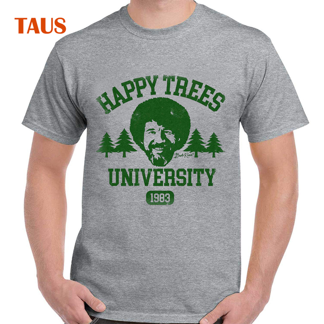 405dfbfb2 Bob Ross Happy Trees University Official Licensed Graphic T-Shirt for Men  and Women