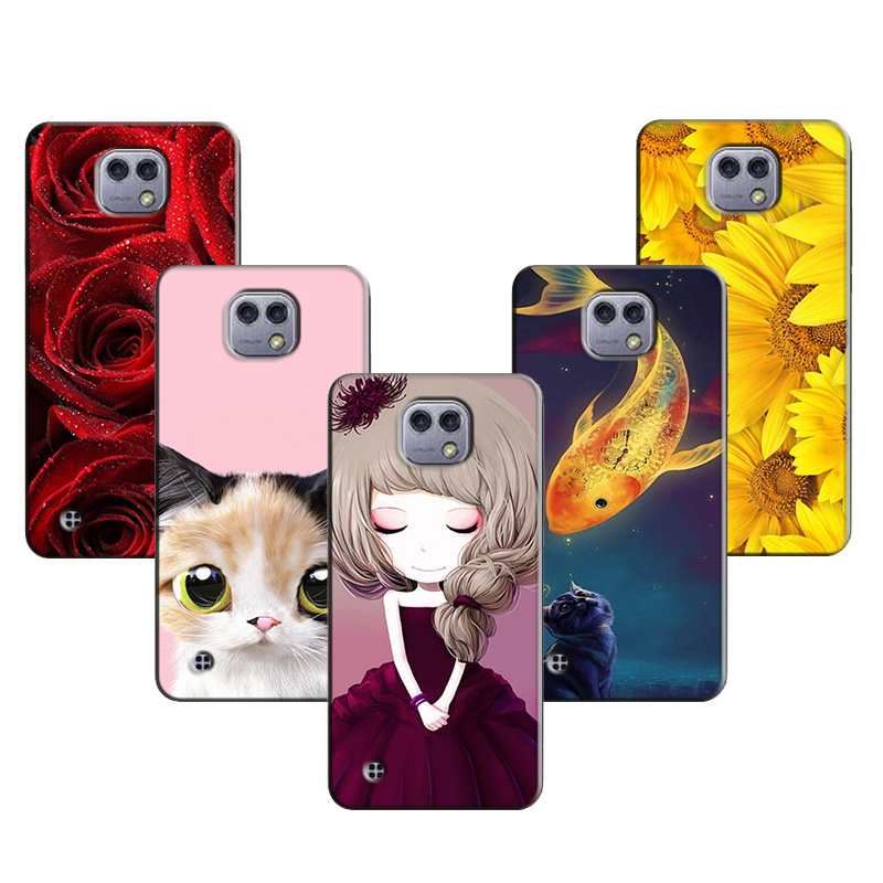 for LG X Cam Cover Cute Cats Owl Deer Animal Scenery Pattern Soft TPU Cases for LG X Cam K580 K580DS Mobile Phone Protect Case