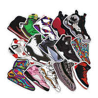 50pcs/lot Basketball Sneakers Sticker Waterproof Stickers For Wall Fridge Travel Suitcase Bike Sliding Plate Car Styling Sticker