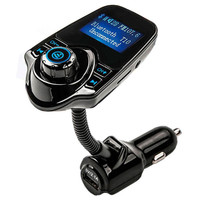 T10 Wireless In Car Bluetooth FM Transmitter Radio Adapter Car Kit With 1 44 Inch Display