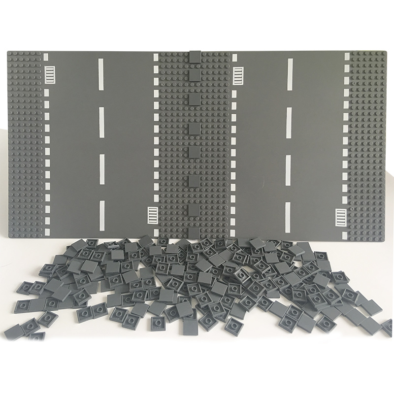 DIY Enlighten Plastic Building Block Bricks 100Pcs Flat Tile 2x2 Toys For Kids Compatible Brand Assembles Particles
