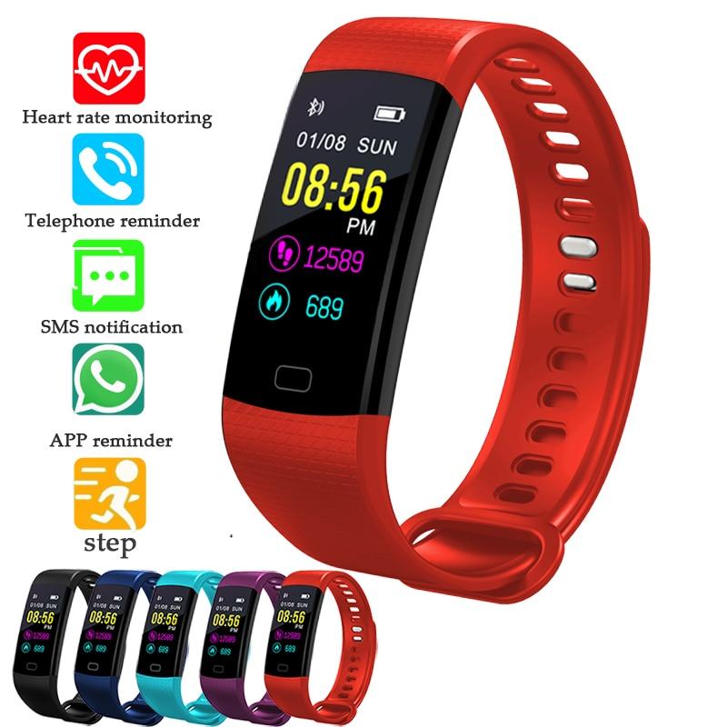 BANGWEI Women Sport Bracelet Watch Men LED Color screen Smart WristBand ECG Real-time Minitor Dynamic Heart Rate Pedometer Clock