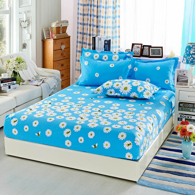 100 Cotton Ed Sheet King Size 180x200cm Twin Bedsheet For S Bed Cover One Piece Free Shipping