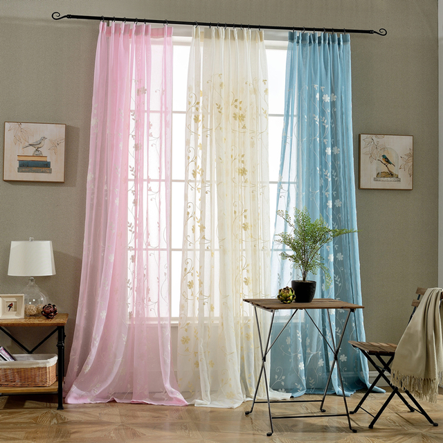 New upscale tulle curtains korean exquisite small yellow flower new upscale tulle curtains korean exquisite small yellow flower embroidery voile curtains bedroom sheer curtains for mightylinksfo