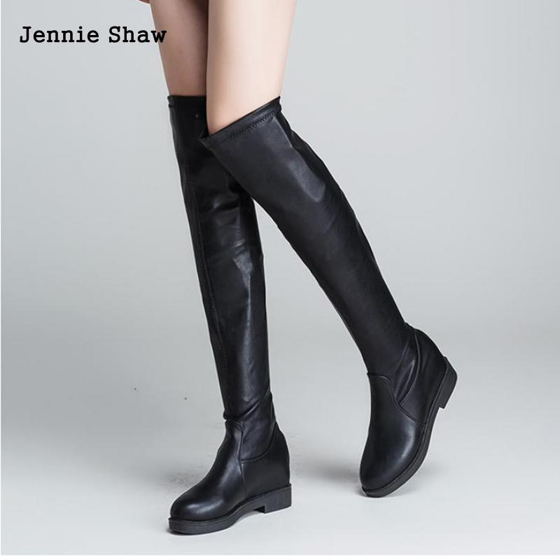 0dd0315a756e5 Over The Knee Boots Thigh High Boots For Women Over Knee High Heel Boots  Long Flats