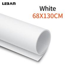 68 × 130センチ27*51インチ白マットpvcフォト写真撮影シームレス防水スタジオ照明の背景背景布