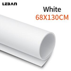 Image 1 - 68x130 cm 27*51 pollice Bianco Opaco PVC Foto Fotografia Senza Soluzione di continuità impermeabile di Illuminazione In Studio Sullo Sfondo sfondo di Panno