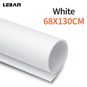 Image 1 - 68x130cm 27*51inch White Matte PVC Photo Photography Seamless Water proof Studio Lighting Backdrop Background Cloth