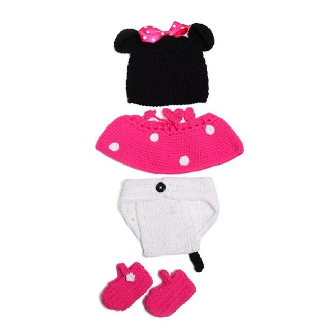 Tienda Online Minnie lindo ganchillo hecho a mano sombreros del bebé ...