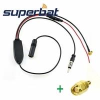 Superbat FM AM To DAB DAB FM AM Car Radio Aerial Converter Splitter Amplifier With SMB