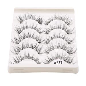 5Pair/Box Eyelashes 3D Artific