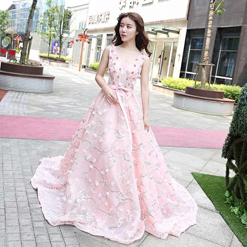1f983c64c483 Mother Daughter Dresses Family Matching Outfits Wedding Evening Dress Pink  Ball Gown Mom .