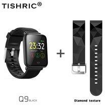 TISHRIC Q9 Smartwatch/สมาร์ทนาฬิกาผู้หญิง/ผู้ชาย/สร้อยข้อมือ Bluetooth สำหรับ Apple Android IPhone นาฬิกากันน้ำกีฬาเลือดความดัน