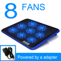 "ICE MASTER F8 8 Fans Notebook Cooling Pad Base Radiator Cooler with Charger Silence 14"" 15.6"" Laptop 2016 Summer hot Sale"